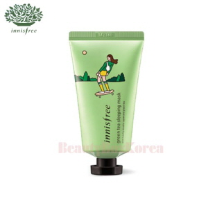 INNISFREE Green Tea Sleeping Mask 50ml With Eco Hankie 1ea [2018 Eco Hankie Limited]